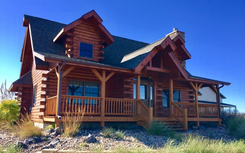 Modern Log Cabin With Shop And Land Colson Agency Inc