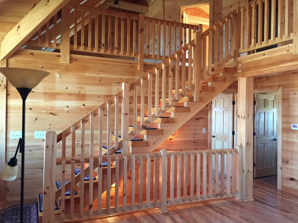 modern log cabin with shop and land colson agency inc rh colsonagency com